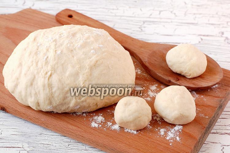 Фото Заварное дрожжевое безопарное тесто