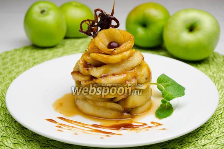 Фото Карамелизированные яблоки
