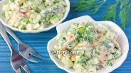 Фото рецепта Салат с мидиями и огурцом