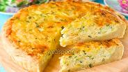 Фото рецепта Открытый пирог с луком, яйцом и сыром