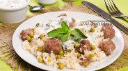 Фото рецепта Рис с фрикадельками