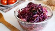 Фото рецепта Тушёная краснокочанная капуста