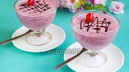 Фото рецепта Сливочный десерт с вишней