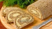 Фото рецепта Праздничный рулет из печёночного паштета