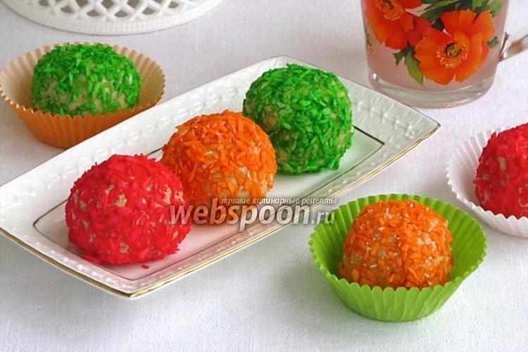 Фото Вафельные шарики в кокосовой стружке