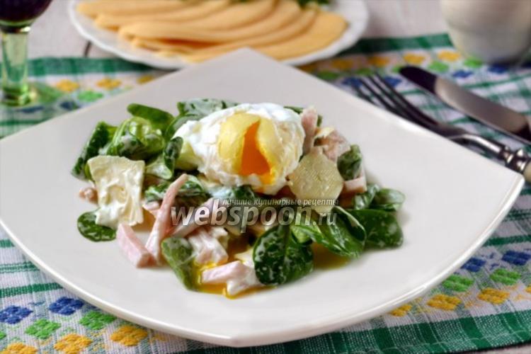 Фото Салат с корном и яйцом-пашот