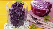 Фото рецепта Салат из краснокочанной капусты и риса