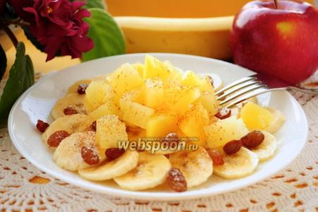 Салат из ананаса и бананов