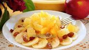 Фото рецепта Салат из ананаса и бананов