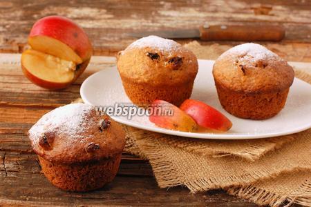 Постные яблочные кексы