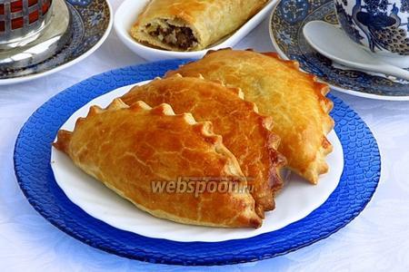 Пирожки «Гребешки» с печенью и яйцами печёные