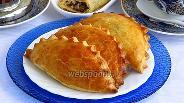 Фото рецепта Пирожки «Гребешки» с печенью и яйцами печёные