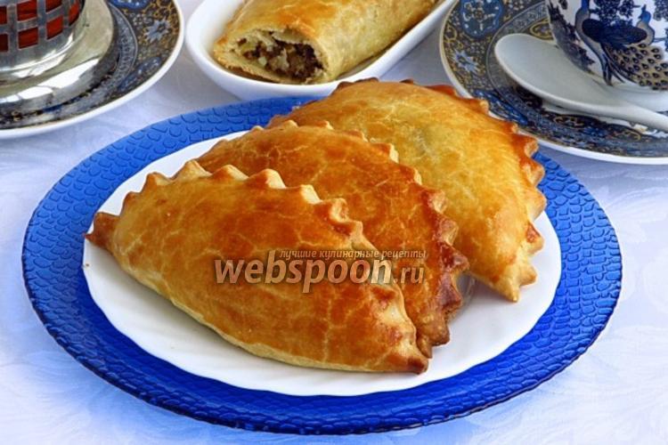 Фото Пирожки «Гребешки» с печенью и яйцами печёные