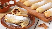Фото рецепта Постные ореховые трубочки