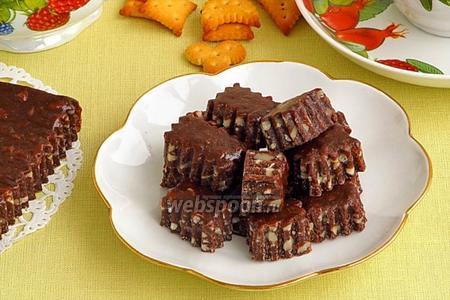 Фото рецепта Шоколадно-ореховые тянучки