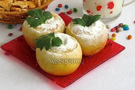 Яблоки запечённые с орехами и сгущёнкой