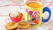 Фото рецепта Постные манные кексы с пудингом