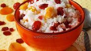 Фото рецепта Рисовая каша с сухофруктами