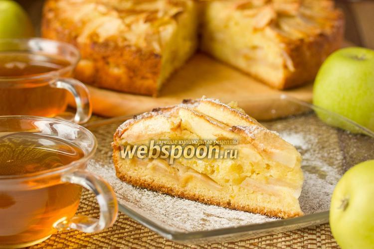 Фото Двухслойный яблочный пирог