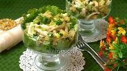 Фото рецепта Овощной салат с консервированным кальмаром