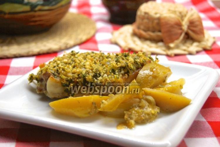 Фото Свинина с яблоками и луком