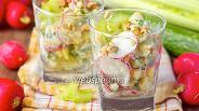 Фото рецепта Овощной салат «Весенний»