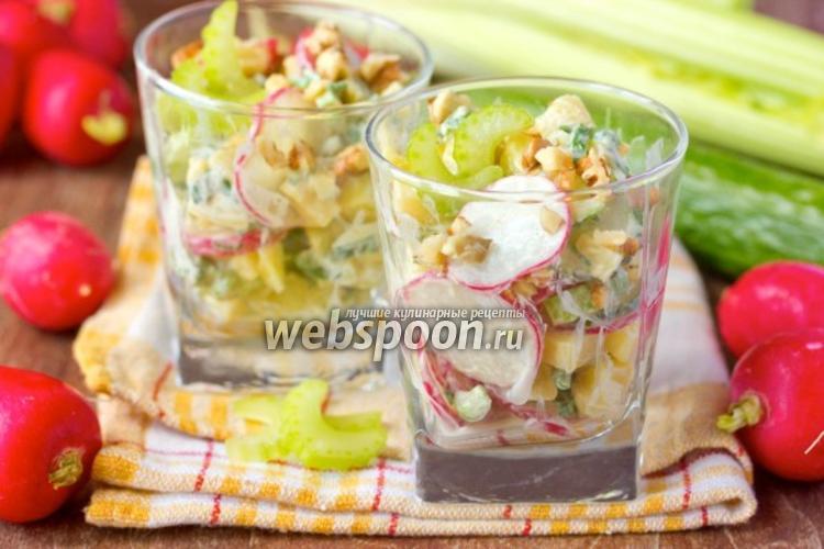 Фото Овощной салат «Весенний»