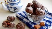 Фото рецепта Шоколадное печенье с ирисками