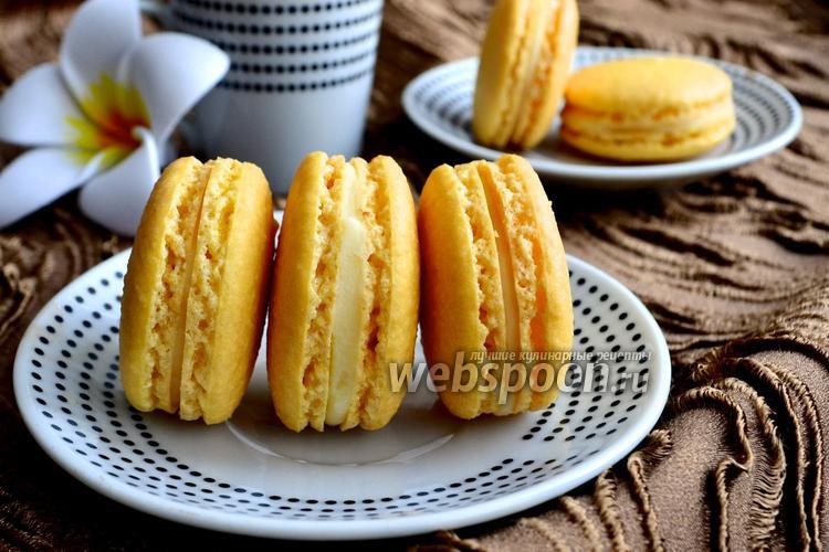 Фото Лимонное печенье macarons