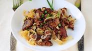 Фото рецепта Жареная куриная печень с луком