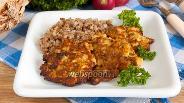 Фото рецепта Куриные оладьи с шампиньонами