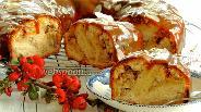 Фото рецепта Банановый пирог с карамелью