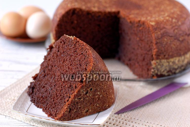Фото Бисквит шоколадный в мультиварке