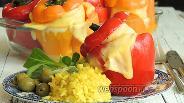 Фото рецепта Перец фаршированный пангасиусом в паровом шкафу