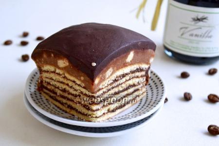 Пирожное с шоколадным ганашем