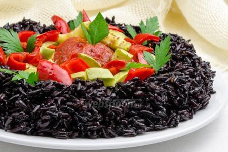 Дикий рис с овощами в мультиварке