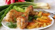 Фото рецепта Картофель с курицей в мультиварке
