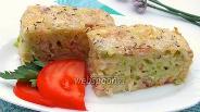 Фото рецепта Наливной капустный пирог с беконом
