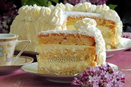 Белый кокосовый торт