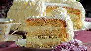 Фото рецепта Белый кокосовый торт