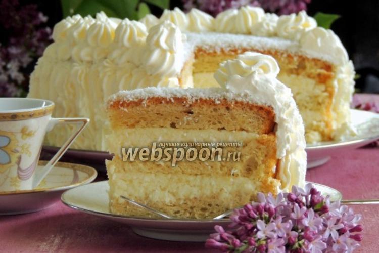 Фото Белый кокосовый торт