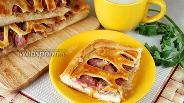 Фото рецепта Пирог с квашеной капустой и шпикачками