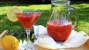 Фото рецепта Домашний земляничный лимонад