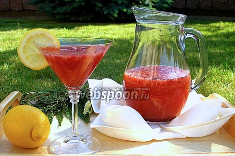 Фото Домашний земляничный лимонад