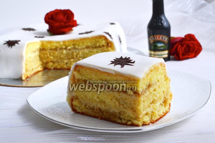 Фото Бисквитный торт «Бейлис»