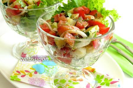 Салат из сёмги с овощами