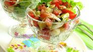 Фото рецепта Салат из сёмги с овощами