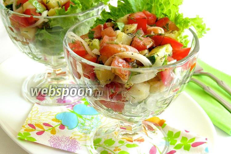 Фото Салат из сёмги с овощами