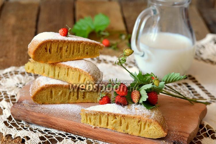 Фото Кисельный пирог в мультиварке