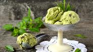 Фото рецепта Мятное мороженое с кусочками шоколада
